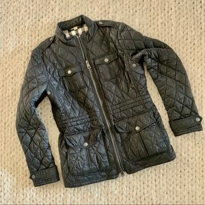Black Burberry Quilted Coat